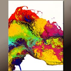 Abstract Canvas Art Painting  18x24 Contemporary by wostudios, $69.00