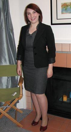 Sheath dress with blazer