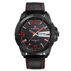 2016 New Fashion Men Watches Army Military Sports Watches Men's Quartz Date Clock Male Luxury Brand Leather Strap Wrist Watch