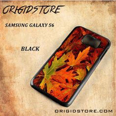 Autumn Red Orange Spring Leaf Black White Snap On 3D For Samsung Galaxy S6 Case
