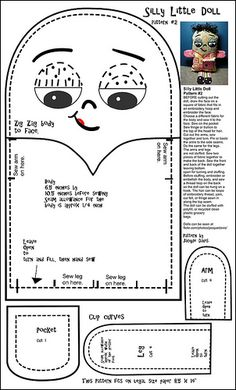 Free Doll Pattern- Silly Little Doll #2 | Flickr - Photo Sharing!
