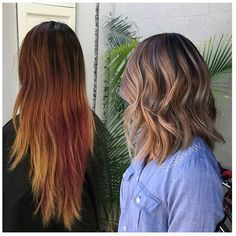 """""""Amazing color correction Hair by @susan.aw  #hair #hairenvy #hairtalk #haircolor #beforeandafter #colorcorrection #makeover #brunette #highlights…"""""""