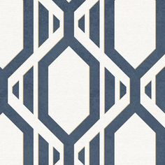 Manhattan Comfort Accentuations Cardiff Geometric Wallpaper Navy Blue - NWSH34547