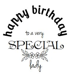 Happy birthday to a very special lady #stamp #clipart