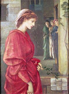 Burne-Jones (Beatrice, Canvas Art Print Reproduction in) cm) Pre Raphaelite Paintings, Edward Burne Jones, Pre Raphaelite Brotherhood, Oil Painting Reproductions, Musa, Italian Art, Arts And Crafts Movement, Canvas Art Prints, Les Oeuvres