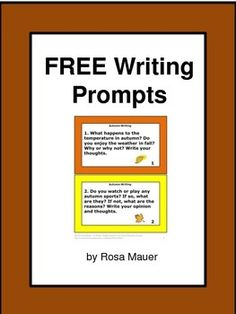 Fall: Fall Writing prompts are just what you need! Enjoy these free task cards. Each card has a writing prompt that will help students get started with their fall writing. An optional response page is included.Click the star above to follow me.Autumn and Back to School ProductsFall Synonyms Language Arts Task Cards Fire Safety Poem, Comprehension Questions, and Editing Activity Fire Prevention and Understanding Task Cards and Worksheet  Goodbye Summer Poem, Comprehension, and Vocabulary…