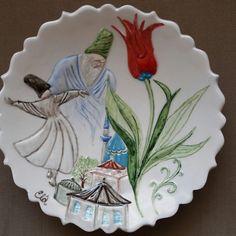 #çinisanatı #çini #tabak #elyapımı  #handmade #elahandmade #mevlana
