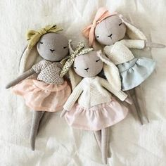The linen girls are in the shop #heirloom #handmade #bunnylove # #handmadegirl #uniquedoll #madewithlove #collectible #love #lapine