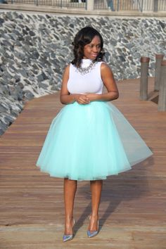 Mint tulle, perfect for spring and Easter