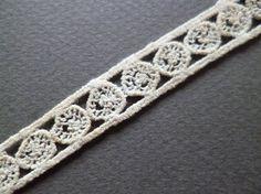 Antique French silk ribbon Pasamaneria cotton por ElTallerAnaGaspar