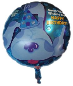 1 Blues Clues Mylar Happy Birthday Balloon 18""