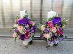 Flowers of Soul: Lumanari de cununie Purple Wedding, Wedding Flowers, Candels, Weeding, Floral Wreath, Wreaths, Table Decorations, Plants, First Holy Communion