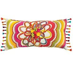 Flowerburst Pillow from Pier 1 - It just makes me happy!