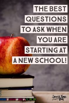 The BEST questions to ask when you are starting at a new school