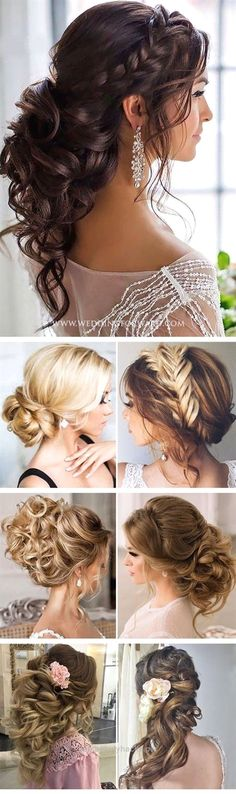 Adorable Killer Swept-Back Wedding Hairstyles. Includes The Half Up Half Down Look For Long Hair, Medium Length and Short Hair. Works With Veil or Without For Bridesmaids The post Killer Swept-Back Wedding Hairstyles. Includes The Half Up Half Down Look For L… appeare ..