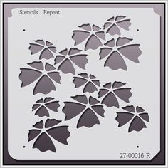 27-00016 R Clover Repeating Stencil