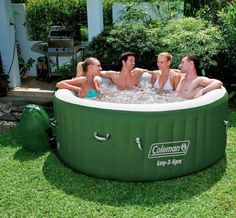 Inflatable Hot Tub Pool Cover Spa Jacuzzi Heat Massage Outdoor 4 Person Portable for sale online Inflatable Hot Tub Reviews, Portable Spa, Portable Bathtub, Portable Hot Tub Ideas, Relax, Whirlpool Bathtub, Outdoor Living, Outdoor Decor, Outdoor Ideas