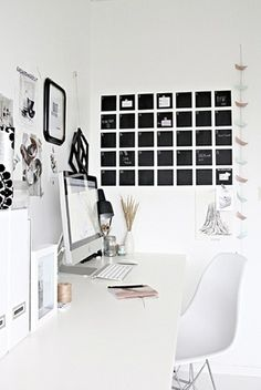 chalkboard calendar / home office Chalkboard Wall Calendars, Blackboard Wall, Diy Chalkboard, Chalk Wall, Chalk Paint, Black Chalkboard, Homemade Chalkboard, Home Design Decor, Home Office Design
