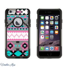 iPhone Otterbox Case for iPhone 5 5s 6 6 Plus Teal by VinettaMae