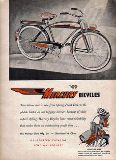 1950 Murray Mercury Fleetline bicycle | Vintage Bicycles ...
