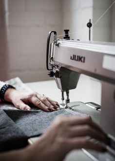 An interview with Sarah Quinn from Enrich and Endure who create unique woven goods using only the finest Irish linen and wool. Samar, Sew Ins, Juki, Sewing Stitches, Sewing Art, Sewing Studio, Fashion Sewing, Sewing For Beginners, Fashion Studio