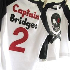PIRATE Birthday shirt Boys Personalized kids by sweet3leafprints