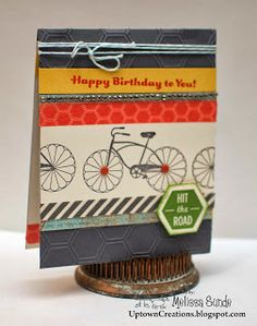 Friday, October 4, 2013 Uptown Creations- Stampin' Up! Independent Demonstrator: Happy Birthday Card :) Cycle Celebration