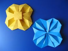 Fiore geometrico - Geometric Flower (top view - bottom view)