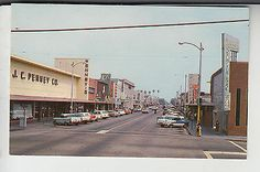 "JC Penney & Oxnard Savings Bank, corners of 6th and ""A"" Street in Oxnard, California (circa 1960)"
