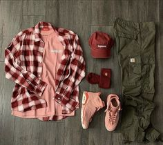 Dope Outfits For Guys, Swag Outfits Men, Flannel Outfits, Tomboy Outfits, Sport Outfits, Casual Outfits, Pink Outfits, Hype Clothing, Mens Clothing Styles