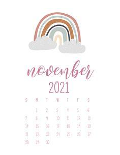 Cute Calendar, Print Calendar, Calendar Pages, Calendar Design, 2021 Calendar, November Calender, Calendar Wallpaper, Study Planner, Printable Calendar Template