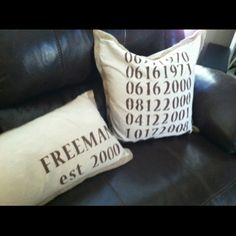 Stenciled pillows - Anniversary idea!!