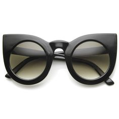 In case something ever happens to my kitty cat glasses.... ZeroUV carries beautiful designer inspired yet affordable sunnies!!!! -------Designer Inspired Large Round Circle Pointed Cat Eye Sunglasses 9180 from zeroUV