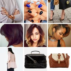 Fall Obsessions // Dark Manicures, Straight Bobs and Shearling | via The Feisty House
