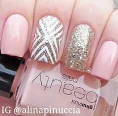Gold, sweet pink. Love the combo