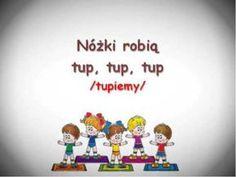 Piosenki z pokazywaniem, piosenki pokazywanki dla dzieci, przedszkole piosenki, piosenki dla dzieci Tip Top, Zumba, Preschool Crafts, Cool Kids, Psychology, Science, Make It Yourself, Education, Creative