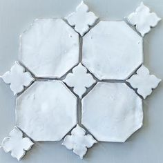 ♕ ceramic |This would make the prettiest back-splash..