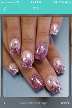 These nails are perfect for prom
