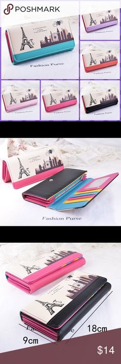 ✨Brand New✨Women Lady Long Clutch PU LeatherWallet ✨Brand New✨Women Lady Long Clutch PU Leather Wallet 1pcs  Brand new,bright color and chic design. Vintage and unique bike pattern,one interior pocket. One photo window,5 card slots,3 money compartment. Durable material,high quality,not easily worn out. Perfect for putting cards,money,check book,coins,etc. Ideal gift for your girl friend,wife,mom,etc.  Material: PU Leather Color: Pink,Blue,Black,Rose Red, Red…
