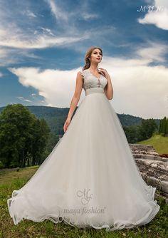 Model M11.16 Romanian Wedding, Maya Fashion, The Bride, Designer Wedding Dresses, One Shoulder Wedding Dress, Model, Collection, Sweet, Bridal Gowns