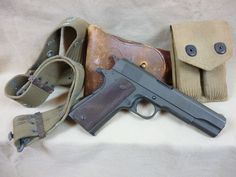 1945 Remington Rand 1911A1 45cal. Loading that magazine is a pain! Get your Magazine speedloader today! http://www.amazon.com/shops/raeind