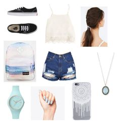 """The sunny days Man"" by pashionforfaishion on Polyvore featuring Swell, Vans, JanSport, Armenta, Ice-Watch and JEM"