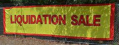 Liquidation Sale Store Advertising Commercial Flag Banner 5x20 feet