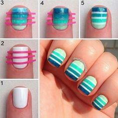 Diseños de uñas A rayas