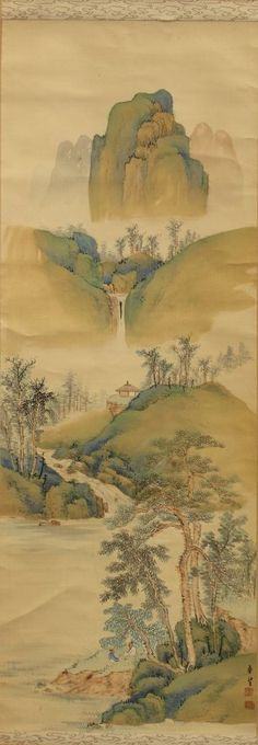 Two Japanese Scrolls Mountain Scenes. Fine Arts auction, 7/13. Leave bid or bid live starting at 12:30pm EST. Starting bid: $100