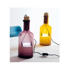 Seletti Neon Bottle Lamp-Amber. Click through to shop online! #lamps #gadgets #bottles #cool