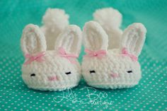 Baby's First Easter Gifts - Bunny Slippers -  So cute!