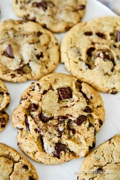 Brown Butter Bakery Style Chocolate Chip Cookies