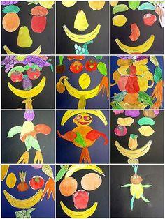 school session Unit: Fruits and vegetables Theme: I design a vegetable … - Nutrition Trend Art For Kids, Crafts For Kids, Arts And Crafts, Summer Crafts, Preschool Art, Preschool Activities, Gouts Et Couleurs, Fruit Crafts, Kids Nutrition
