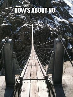It looks sturdy....but, even so, I don't know if I could walk this bridge.